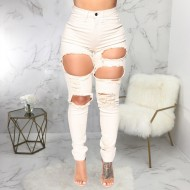 Calça jeans destroyed off white Ref 1251