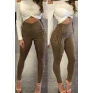 Calça cintura alta skinny amarração Ref 1463