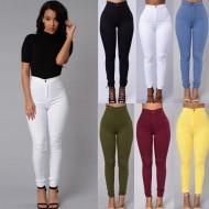 Calça jeans skinny cintura alta neon Ref 1728
