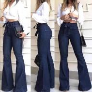 Calça jeans boca de sino pantalona Ref 1253