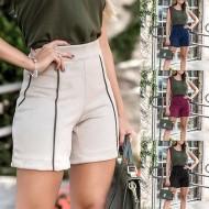 Shortinho cintura alta padrão Deluxe camurça Ref 1849