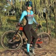 Macacão de ciclismo profissional feminino Ref 3023