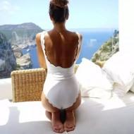 Maio body costas aberta branco réveillon Ref 125