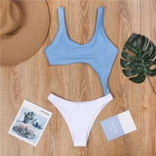 Maiô azul com branco Ref 154