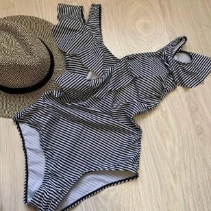 Maiô body listrado moda feminina Ref 1371