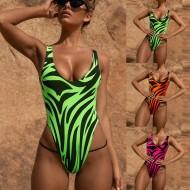 Maiô body feminino estampado safari cores fortes neon Ref 2319