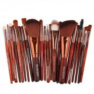 22 peças kit de pincéis de maquiagem blush pó sombra lápis labial e outros Ref 2040