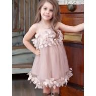 Vestido infantil de festa plissado Ref 2708
