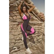 Macacão fitness de treino feminino Ref 813