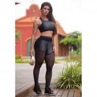 Conjunto moda fitness top e calça para treinar Ref 810