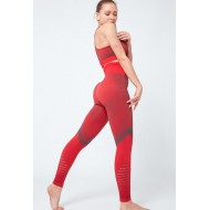 Conjunto vermelho calça e top de ginástica Ref 893
