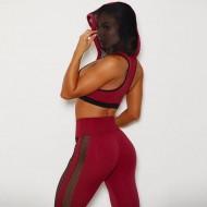 Conjunto fitness calça e top com capuz Ref 833