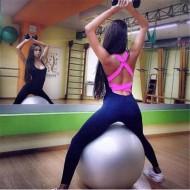 Macacão moda fitness trançado nas costas Ref 830