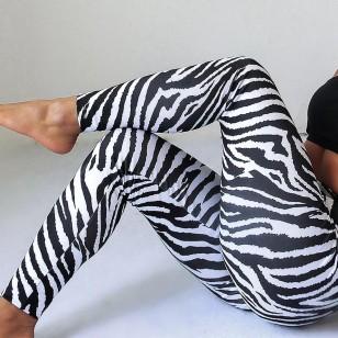 Calça legging estampa de zebra Ref 851