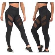 Calça legging faixas transparentes Ref 1658