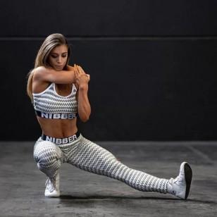 Conjunto moda fitness top com calça Ref 1038