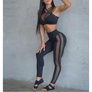 Conjunto moda fitness calça e top de treino Ref 831