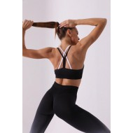 Conjunto calça e top moda fitness degradê Ref 898