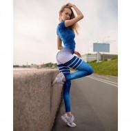 Calça legging feminina esportiva com estampa yoga esportes fitness Ref 2324