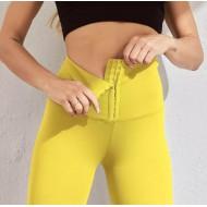 Calça leg afina cintura cós alto com barbatanas hot pants Ref 2478