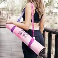 Tapete para treinar com faixa elástica de resistência musculação yoga terapia Ref 2323