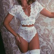 Conjunto lingerie da noiva top e calcinha Ref 800