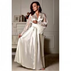 Camisola longa cetim de seda manga flare Tereza Cristina