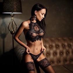 Lingerie sexy de renda linha de qualidade luxo Ref 1654