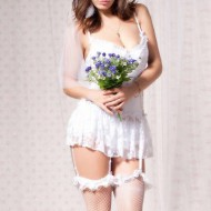 Camisola lingerie da noiva lua de mel moda íntima Ref 807