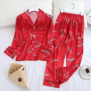 Conjunto de pijama luxo blusa e calça Ref 2475