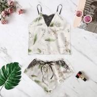 Conjunto de pijama em promoção cetim de seda luxo 2060