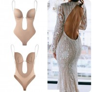 Body nude sutiã alça invisível para traje roupa decotada Ref 2997