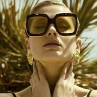 Óculos feminino quadrado grife Ref 1535