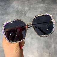 Óculos feminino com pedrarias Ref 1367