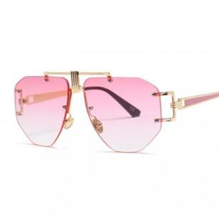 Óculos UV 400 armação diamante blogueiras Ref 1572