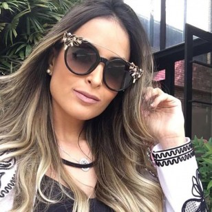 Óculos das blogueiras com pedrarias Ref 1041