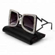 Óculos feminino com brilhantes Ref 1355