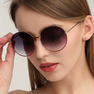 Óculos Redondo Máxi Magenta Linha Lux Ref 76