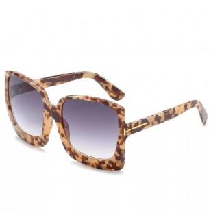 Óculos de Sol Quadrado UV 400 Estampa Animal Print Ref 73