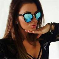 Óculos de sol feminino lente azul espelhado Ref 1309