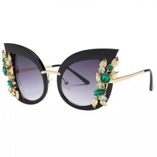 Óculos de gatinho com pedras Ref 1534