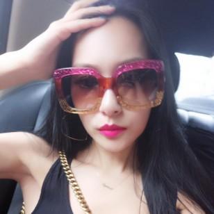 Óculos gatinho glitter blogueira Ref 1524