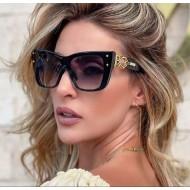 Óculos de luxo linha gold black Ref 3233