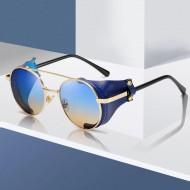 Óculos aviador armação com couro moda blogueiras Ref 3392