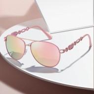 Óculos aviador feminino Rose Gold lente espelhada Ref 3391