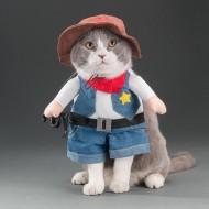 Roupa de xerife para gatos ou pequenos cães petshop Ref 1752
