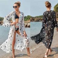 Saída de praia em chiffon luxo estampa de estrelas Ref 2842