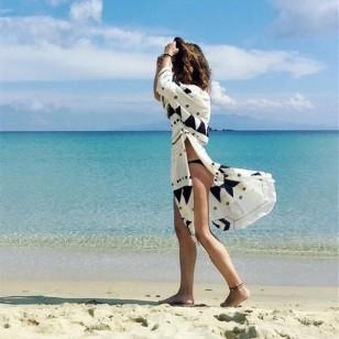 Saída de praia túnica com manga Ref 548
