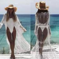 Saída de praia cardigan branco luxo Ref 478
