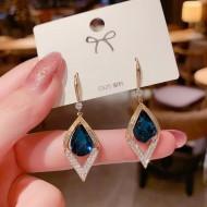 Brincos femininos de cristais azul Ref 3298